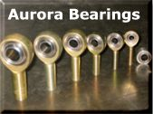 Aurora rod end and spherical bearings