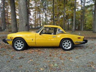 "Bill Cook's Triumph Spitfire with Panasport  Z-Lights 15""X6"""