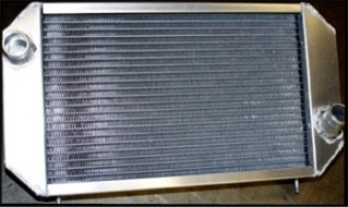 alloy radiators for vintage race car applications